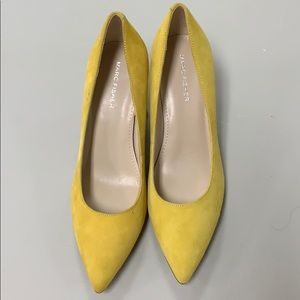 Marc Fisher Claire Yellow Suede Pumps